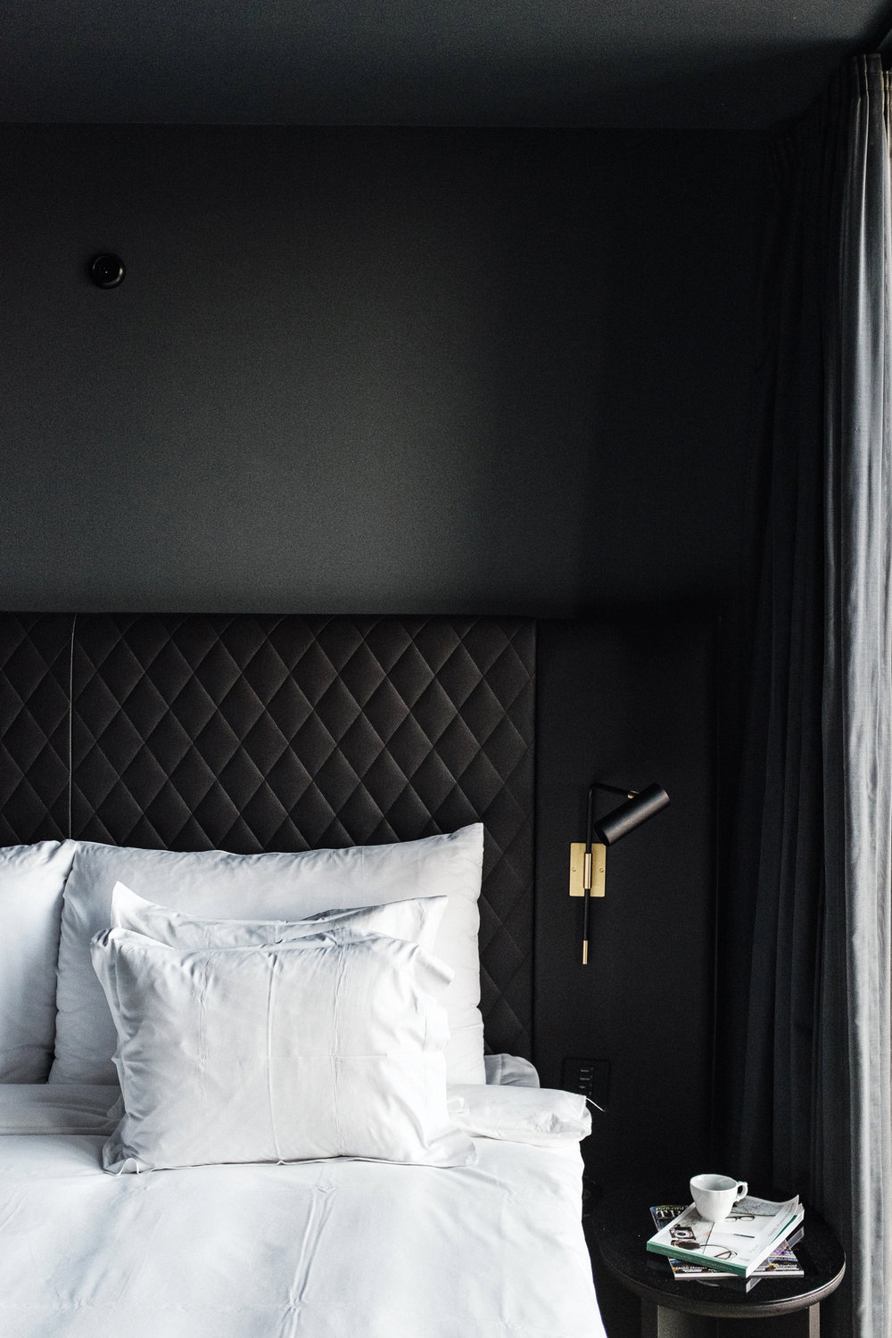 bed details at hotel at six
