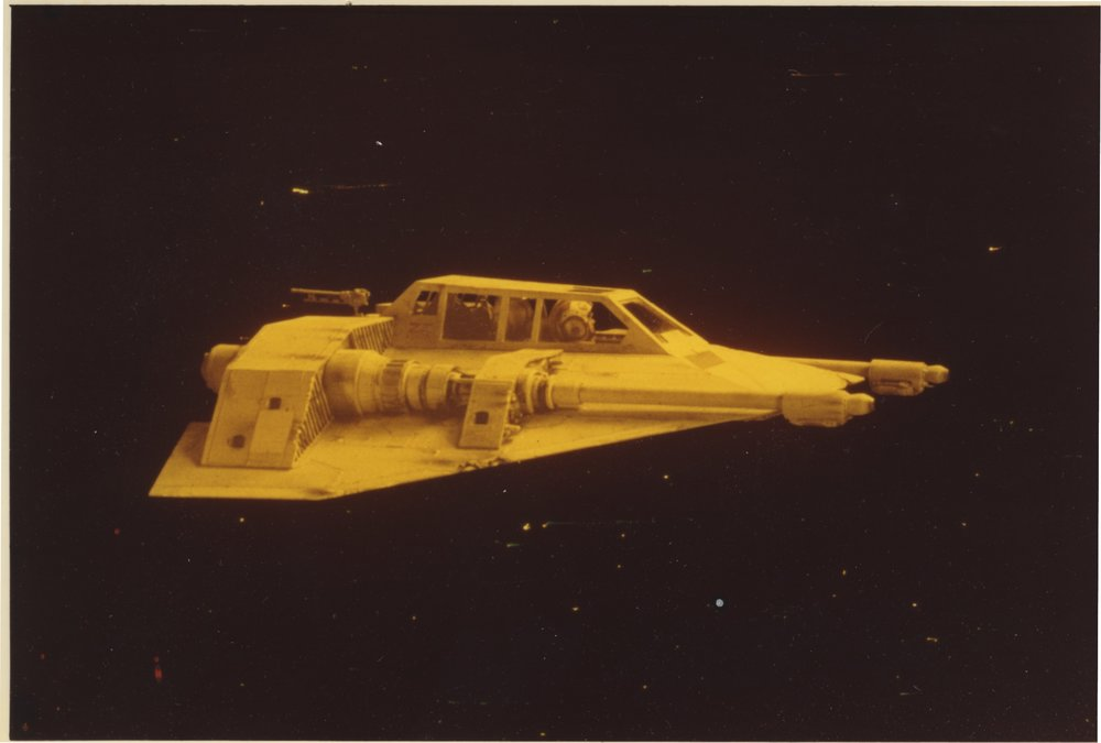 Photograph of a Rebel Snowspeeder from THE EMPIRE STRIKES BACK- The Christopher Corey Smith Collection