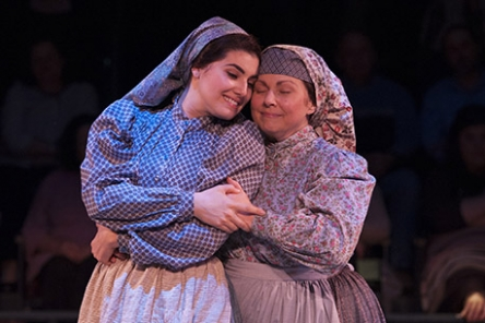 "Ann Arvia & Maria Rizzo in ""Fiddler on the Roof""  photo by Margot Schulman"