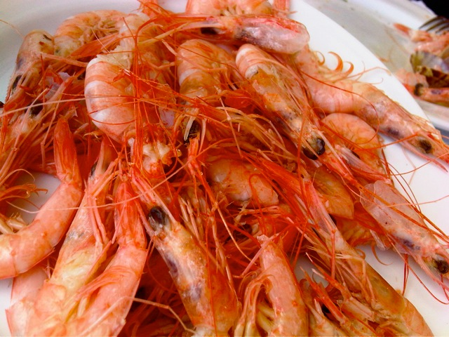 BROILED PRAWNS FRESH OFF THE BOAT