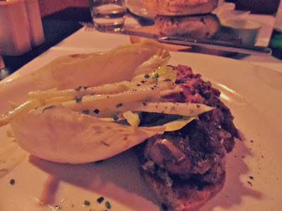 SAUTEED CHICKEN LIVERS ON ENDIVE, SHALLOT CREAM AND SOURDOUGH TOAST