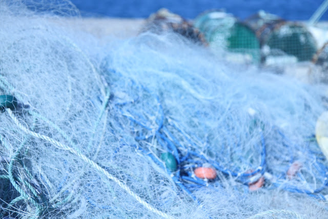 FISHING NETS IN THE ALGARVE, PORTUGAL