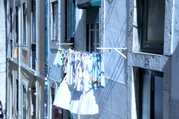 LAUNDRY DAY IN LISBON, PORTUGAL