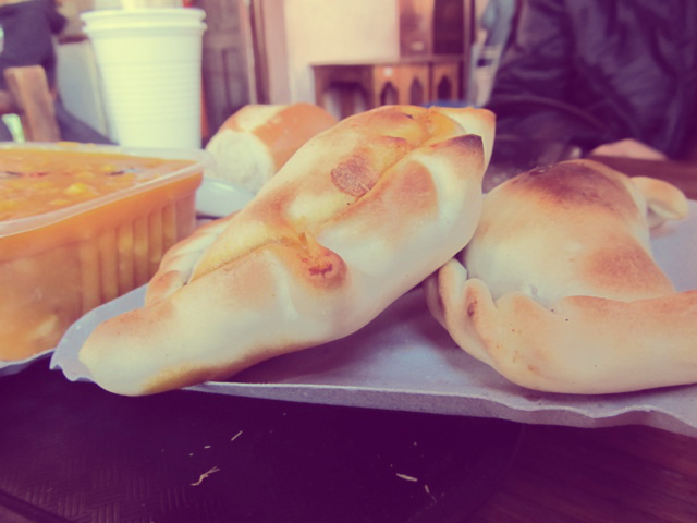 LOCRA AND EMPANADA, MADE FRESH TO ORDER