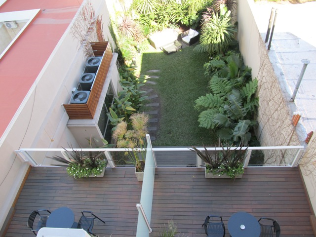 THE GARDEN FROM OUR BALCONY