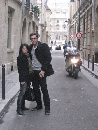 Dan Levy and I channeling our inner Parisians, January 2007.