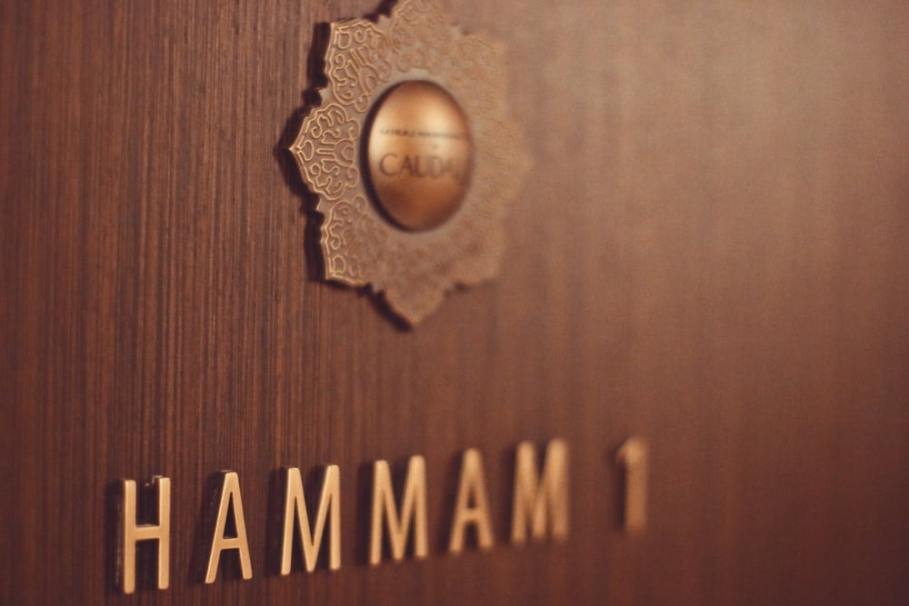 ENTRANCE TO ONE OF THE TWO HAMMAM SUITES.