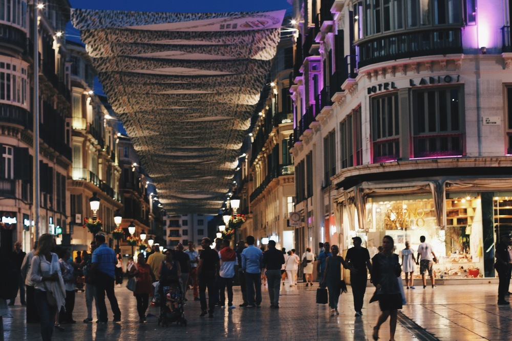 CALLE MARQUES DE LARIOS AT NIGHT