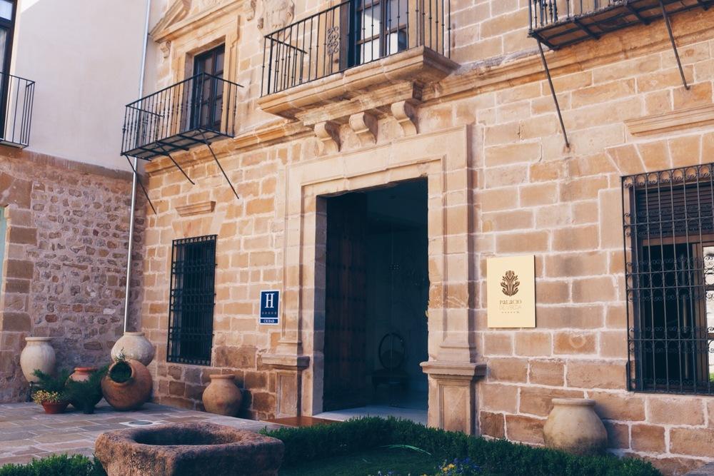 ENTRANCE TO THE RESTAURANT (LOCATED IN THE 5-STAR HOTEL PALACIO DE UBEDA)