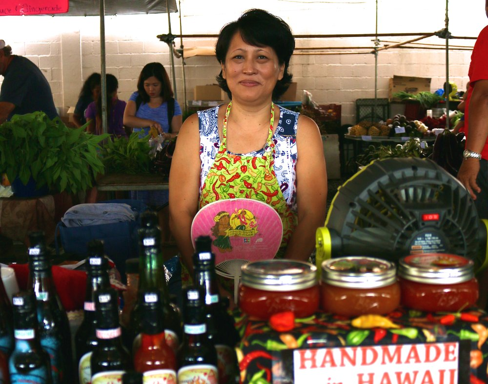 LOOK OUT FOR THIS HOT SAUCE LADY! BE NICE AND YOU'LL GET LOTS OF FREE SAMPLES :)