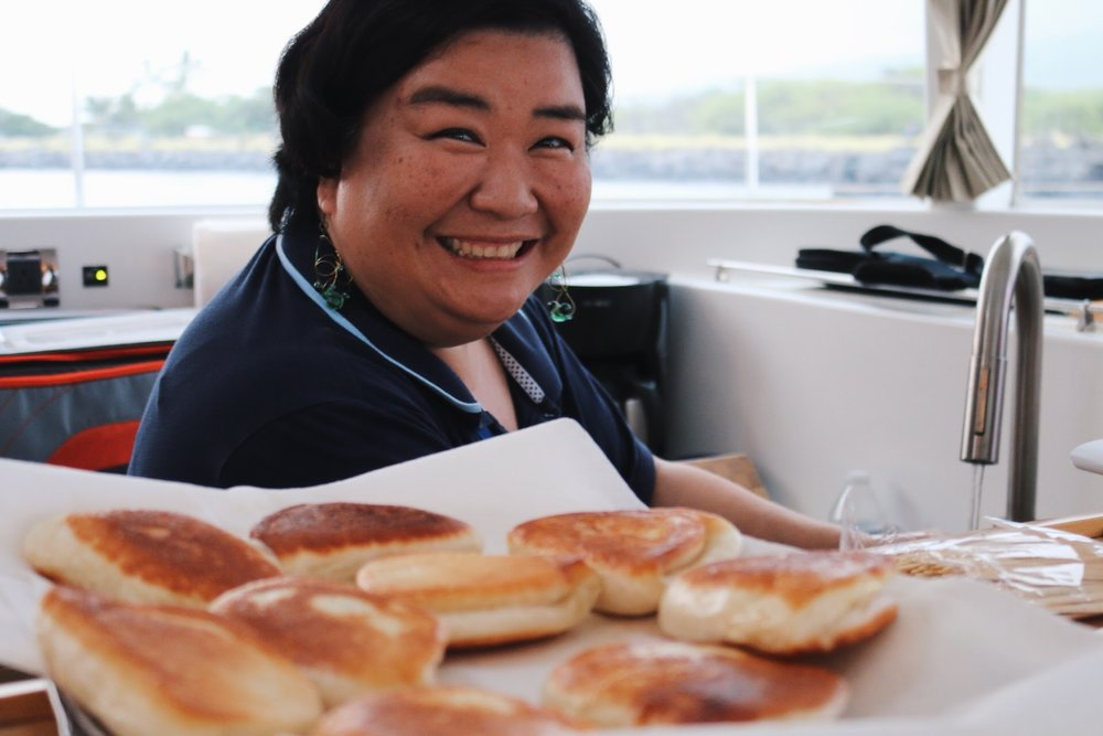 TRACEY APOLIONA FROM  FEEDING LEAF  AND THE BEST FLAKY/BUTTERY/SWEET BUNS FOR THE AMAAAZING KEAHOLE LOBSTER ROLLS