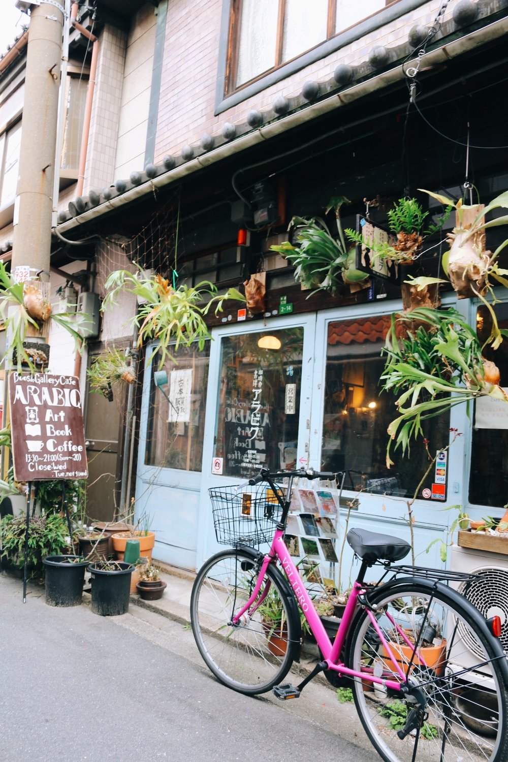 Cute little coffee shops everywhere you look in Nakazakicho