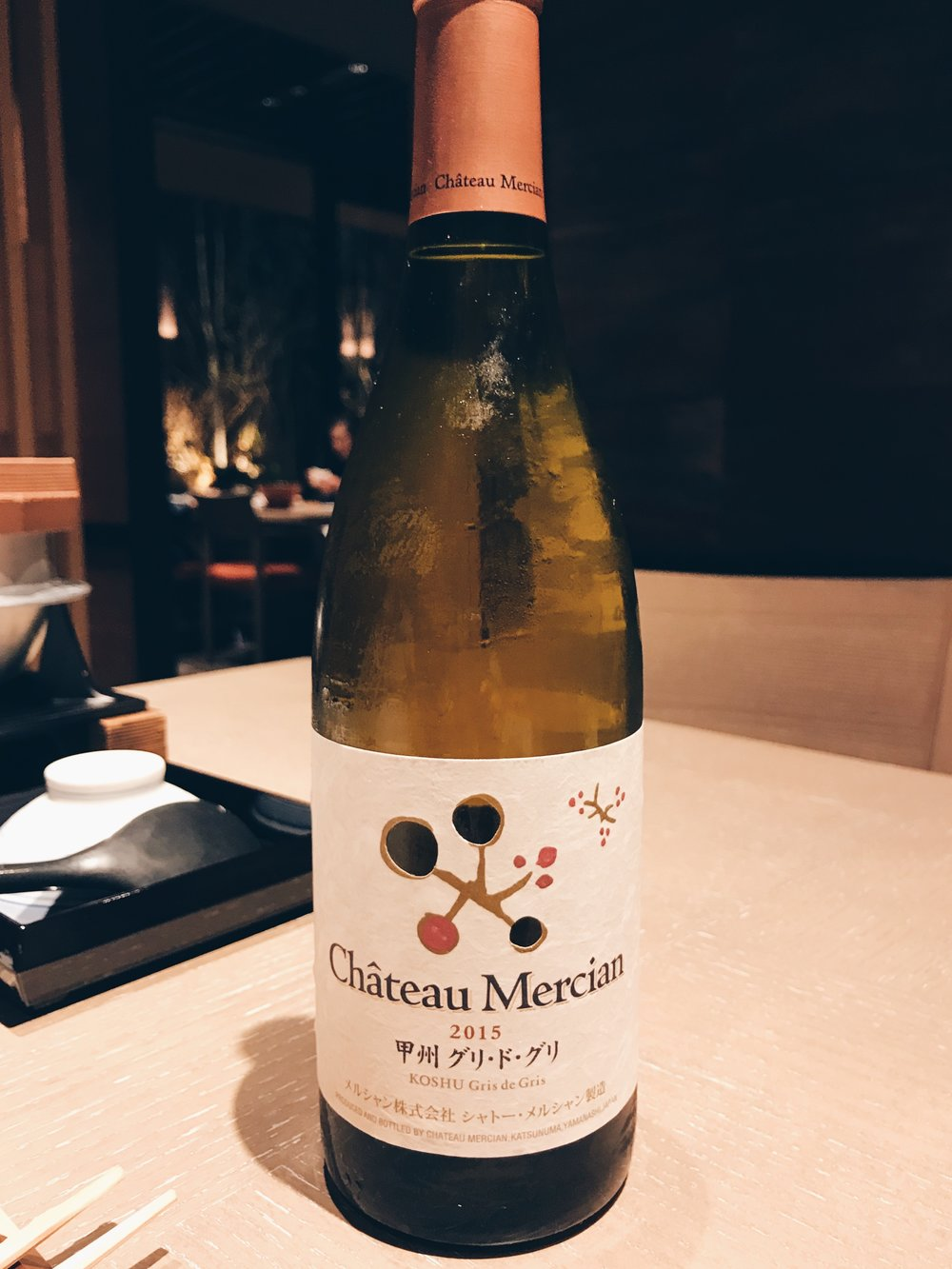 Chateau Mercian 's Koshu Gris de Gris from the Nagano region