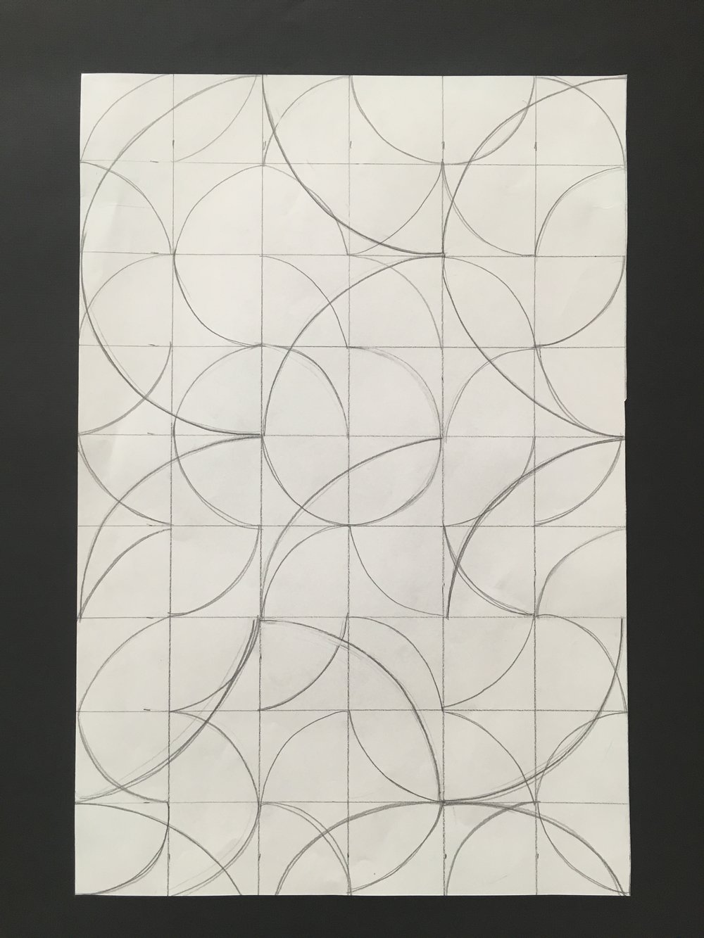 Grid-based abstraction using variations on a single stroke/line.