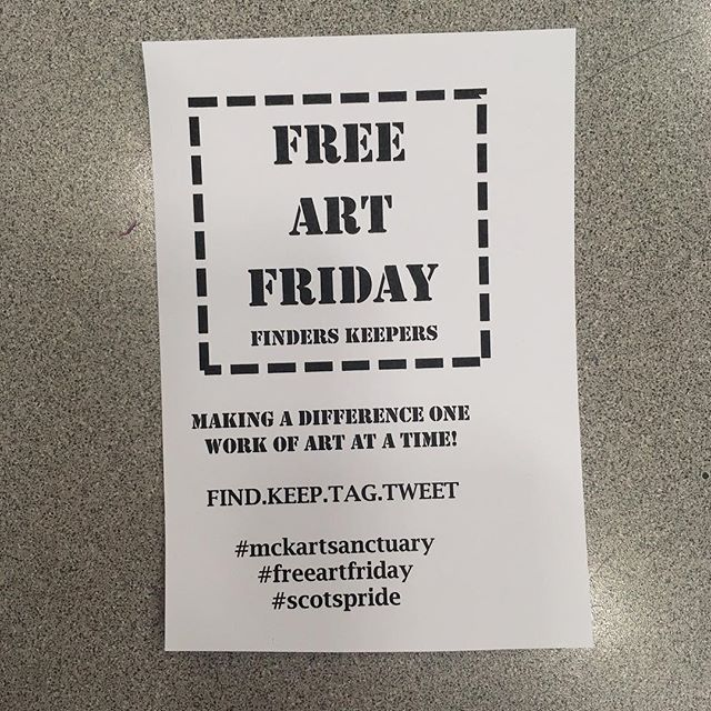 #mckartsanctuary #freeartfriday #scotspride