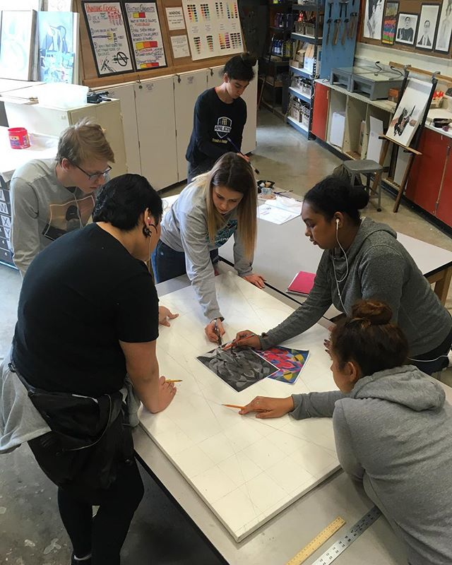 Problem solving during group master painting remixes. 👩‍🎨👨‍🎨🕵️‍♀️🕵️‍♂️ #mckartsanctuary
