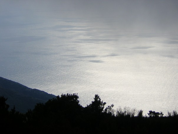 Silvery seascape from Marciana.  Views were stunning.
