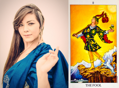 The Fool card in the Tarot (0) represents new beginnings, spontaneity and acting from the heart.