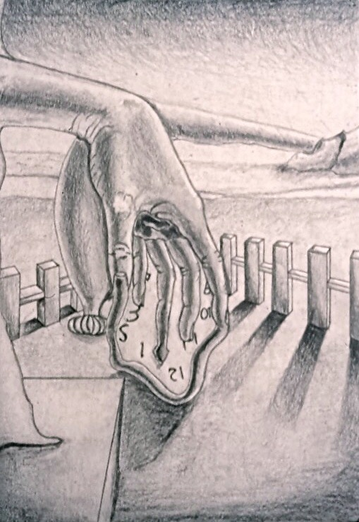 High School Sketch ('02) Based on The Persistence of Memory by Salvador Dali