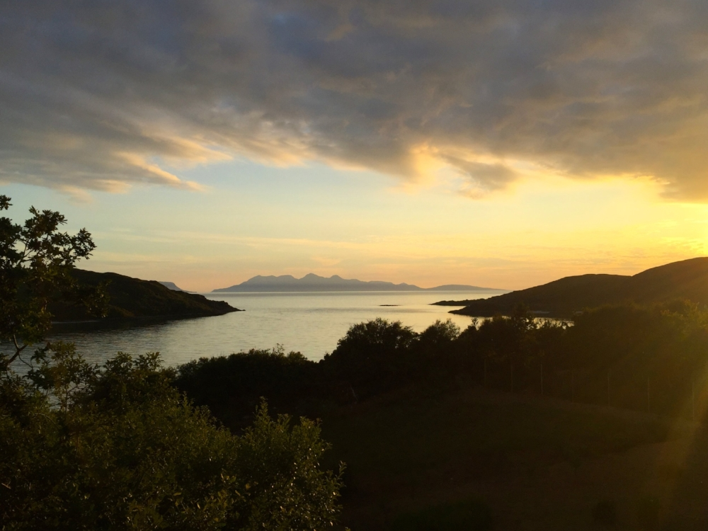 Sunset on the silver sands of Morar, Scotland (July '18)