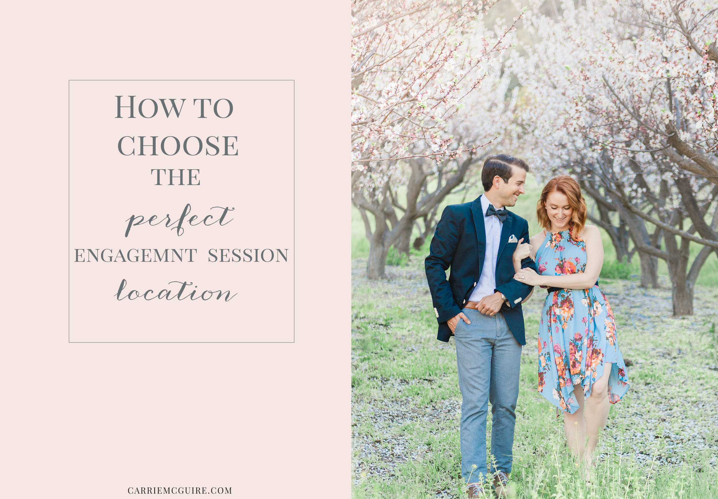 How to choose the perfect engagement session location