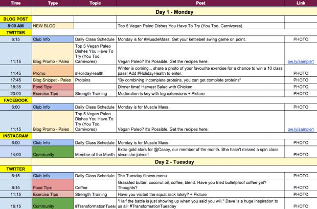 Reasons You Need A Content Marketing Calendar And How To Make One - Content marketing calendar template