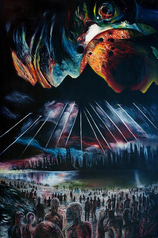 "Peacekeeper   2012  Oil on canvas. 71 x 47"""