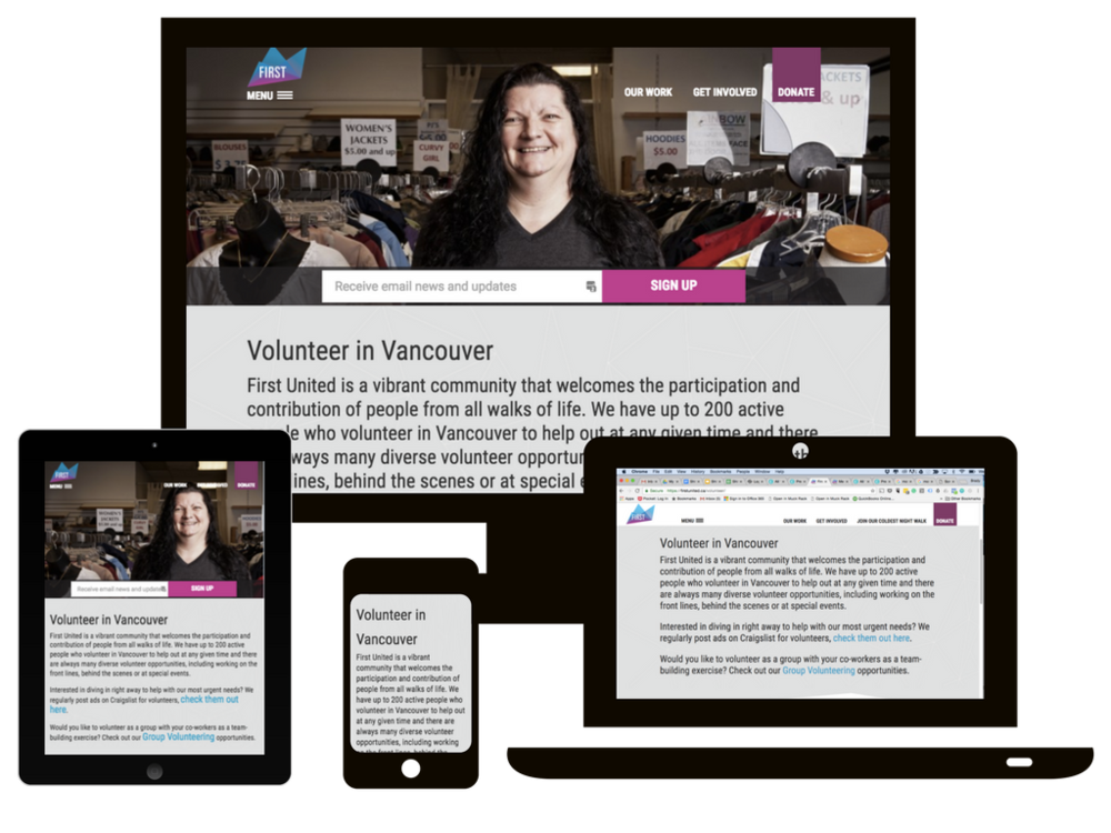 first united case study website rebuild