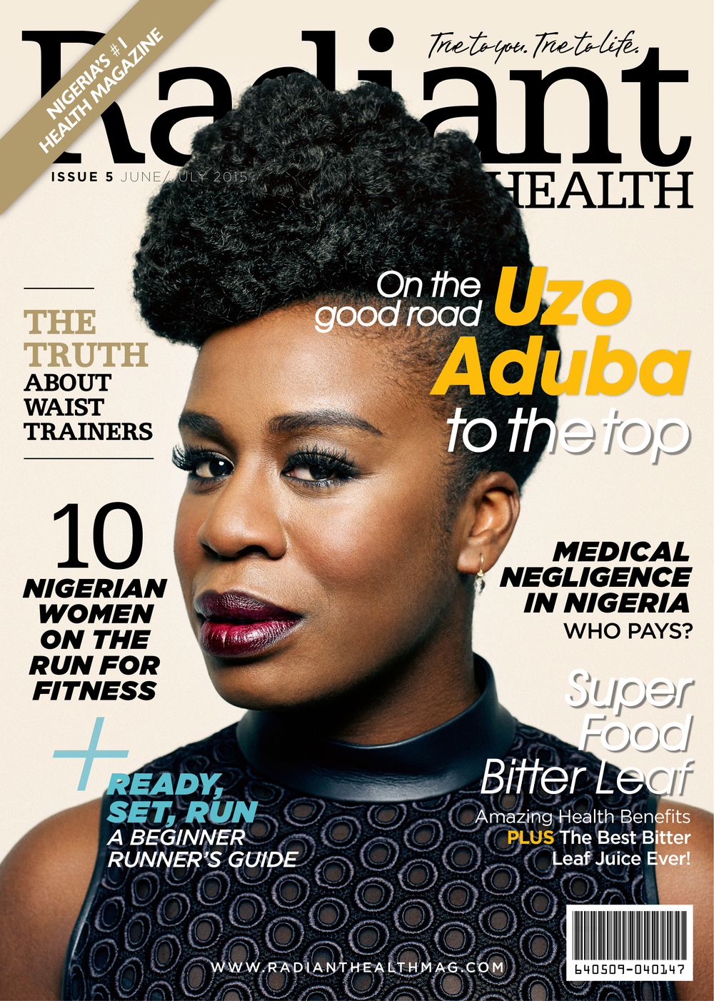 Uzo Aduba Radiant Health Magazine Cover