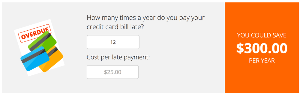 Image from Bad Habit Calculator on LendingTree.com