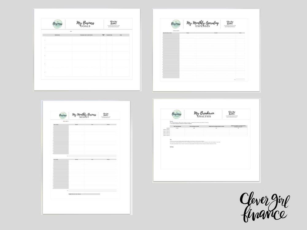 CGF Business Finance Worksheets Bundle