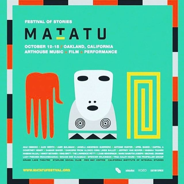 Honored to host the MATATU Festival again this year.  Get your tix NOW. No joke. The passion, intelligence, creativity and spirit flowing through this will give you what you need. Visit MATATUFESTIVAL.ORG for tickets, schedules, and more info about the many films, performances and talks happening in Oakland October 12-15‼️ Follow @matatu Festival of Stories❗️ #matatu2016 #matatu16 #starlinesocialclub