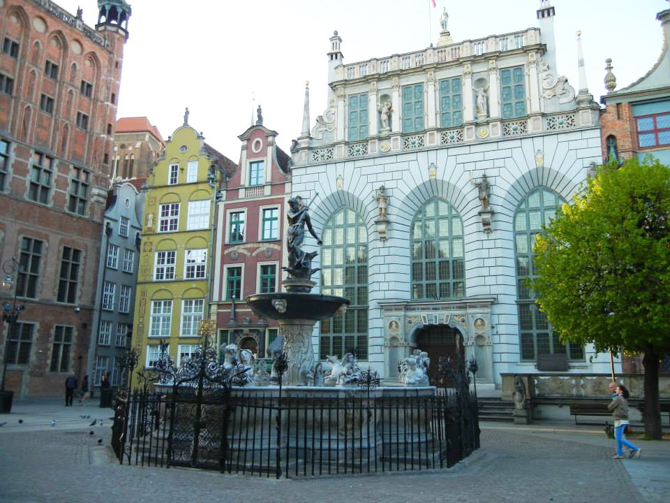 Neptune's Fountain (Fontanna Neptuna) Gdansk