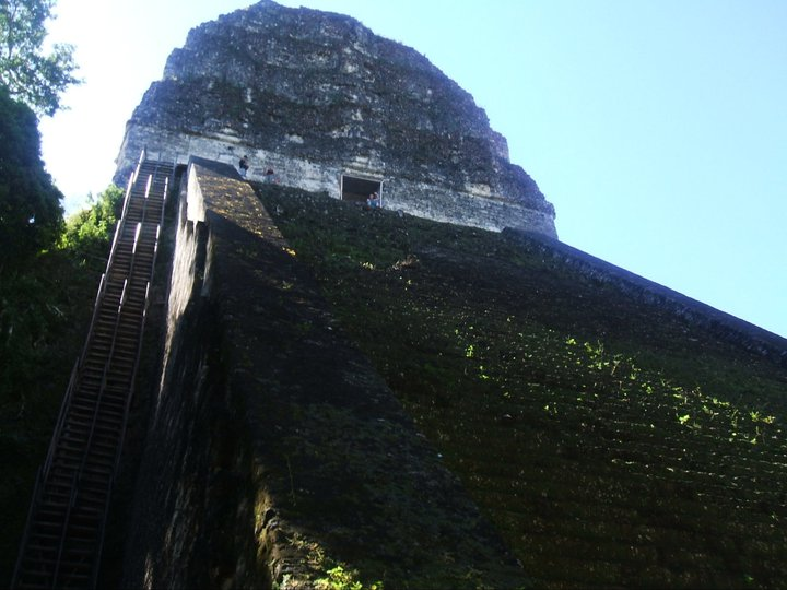 temple at Tikal, yes you can climb it!