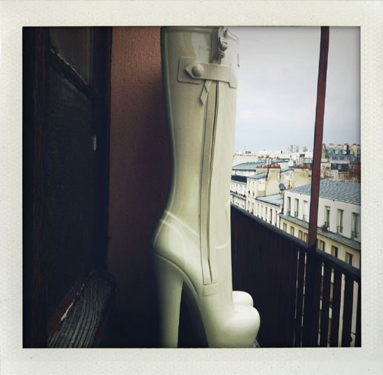 16.00 hrs, Studio Daylight, Paris rooftop, Louis Vuitton Fetish Rubber Wellies