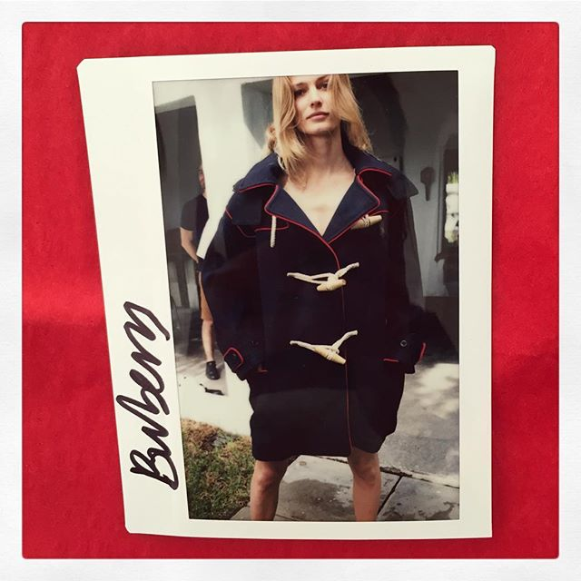 My behind-the-scenes polaroid ✨  Styled by @alexwhiteedits is #EditaVilkeviciute in @burberry for @bruce_weber's @portermagazine cover story, hair by @bartpumpkin makeup @aarondemey1 💙