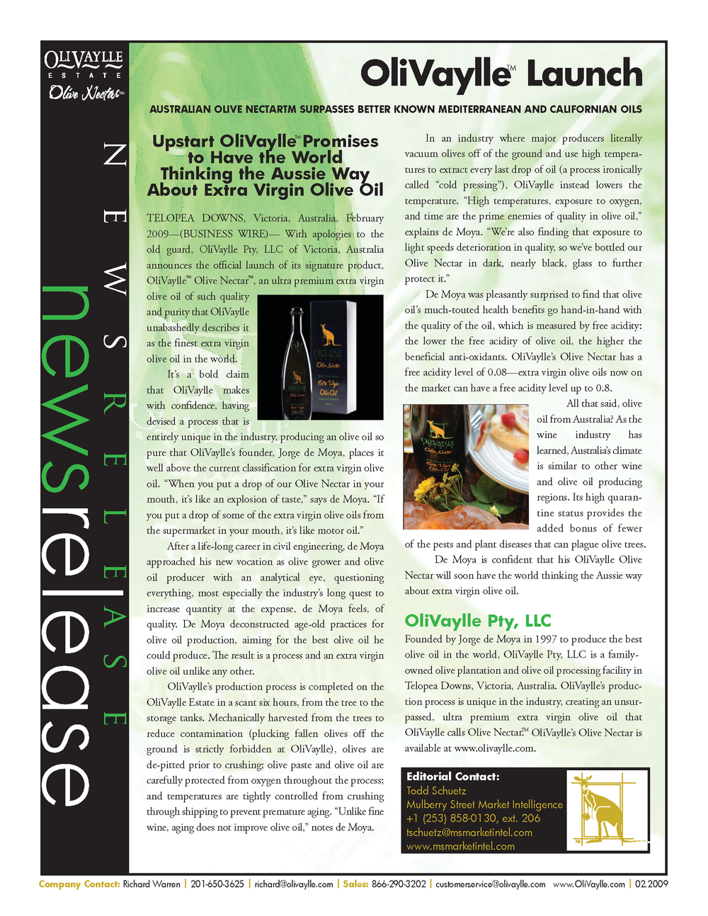 press release - magazine layout