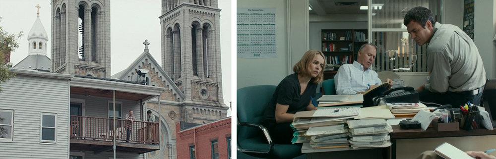 Rachel McAdams, Michael Keaton, & Mark Ruffalo in  Spotlight  |ScreenCrush/Epsilon Reviews