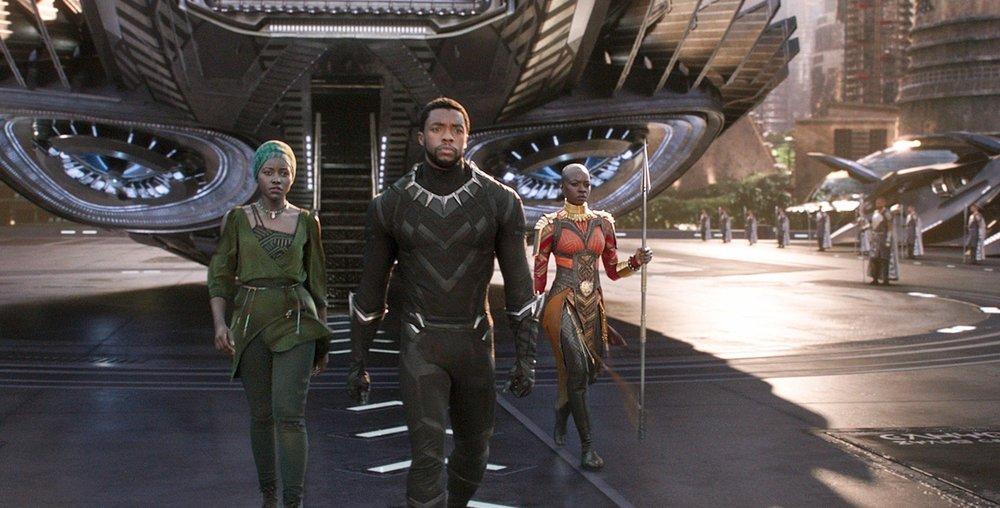 Lupita Nyong'o, Chadwick Boseman, & Danai Gurira in  Black Panther  | Entertainment Weekly