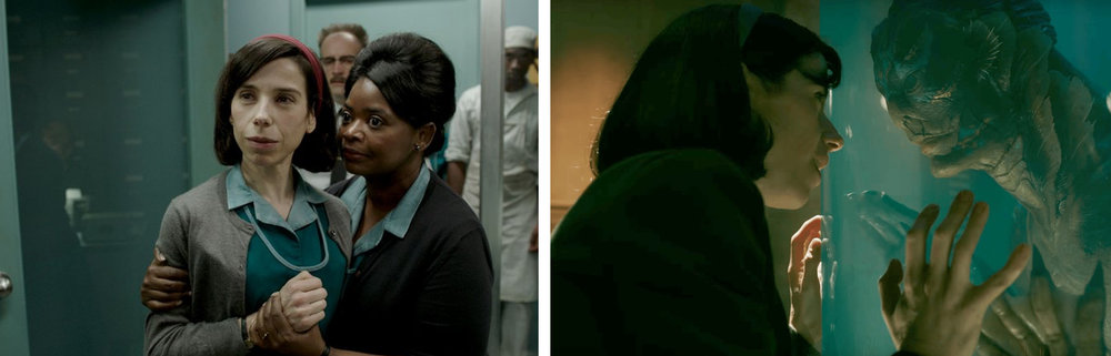 Sally Hawkins, Octavia Spencer, & Doug Jones in  The Shape of Water  | Hollywood Reporter/IndieWire