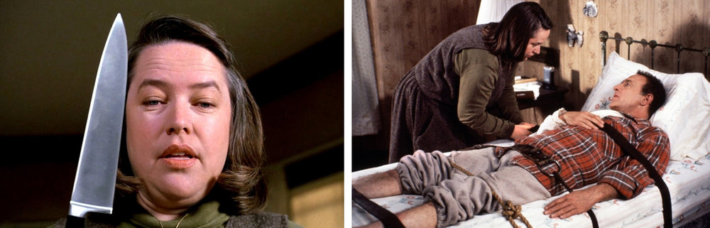 Kathy Bates & James Can in  Misery |New York Times/Bloody Disgusting