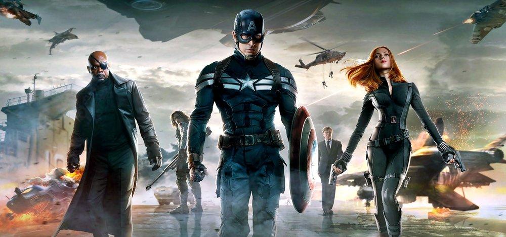 Samuel L. Jackson, Sebastian Stan, Chris Evans, Robert Redford, Scarlett Johansson in Captain America 2: The Winter Soldier |ChicagoNOW