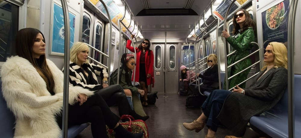 Sandra Bullock, Cate Blanchett, Rihanna, Mindy Kaling, Awkwafina, Helena Bonham Carter, Anne Hathaway, & Sarah Paulson in  Ocean's 8  |CNET