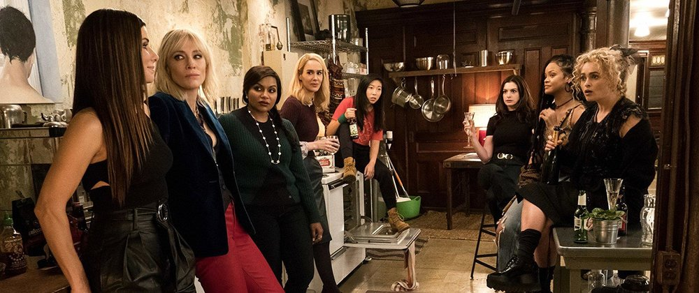 Sandra Bullock, Cate Blanchett, Mindy Kaling,Sarah Paulson, Awkwafina, Anne Hathaway, Rihanna, & Helena Bonham Carter in  Ocean's 8  | digg