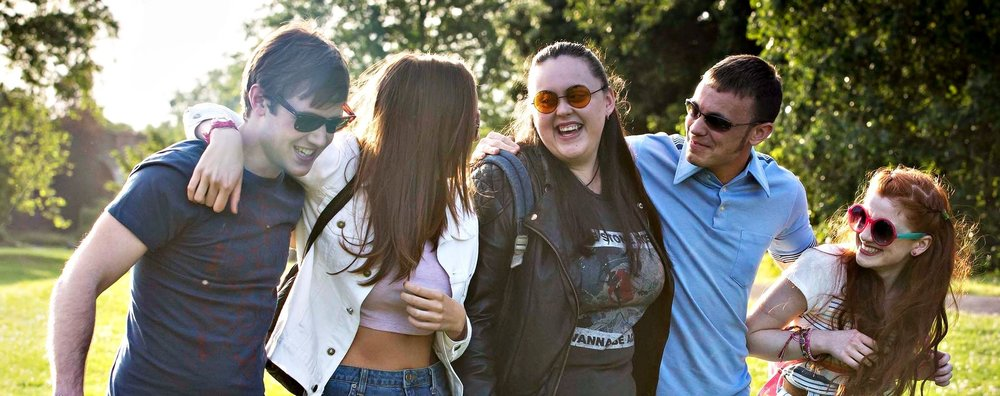 Dan Cohen, Jodie Comer, Sharon Rooney, Jordan Murphy, and Ciara Baxendale in  My Mad Fat Diary  | Tumblr