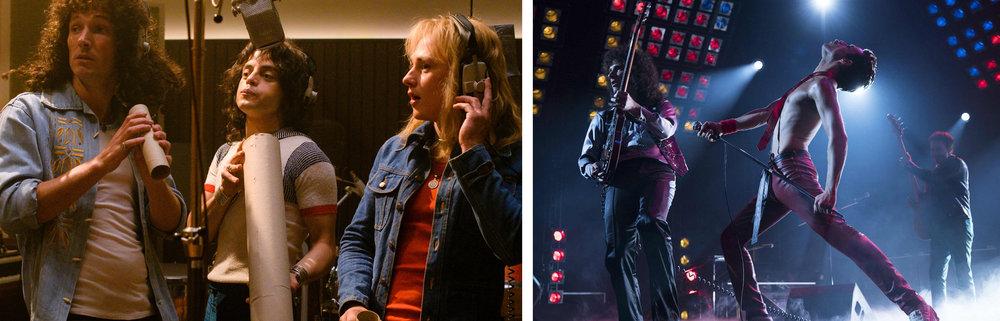 Gwilym Lee, Rami Malek, and Ben Hardy in  Bohemian Rhapsody  | Film Geek Guy, Vox