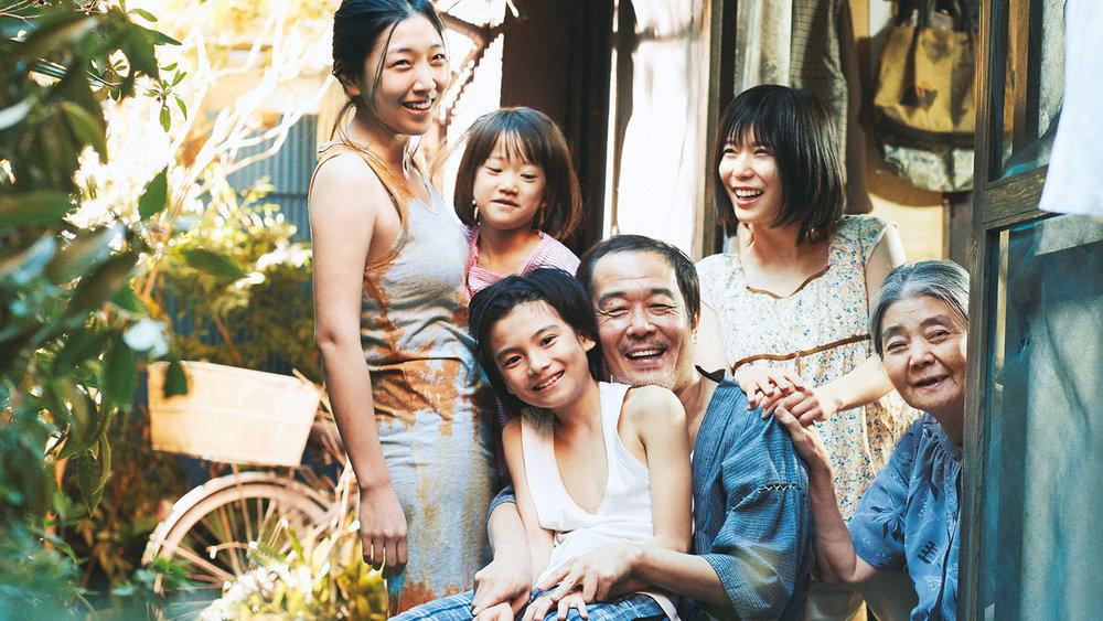 Sakura Ando, Miyu Sasaki, Kairi Jō, Lily Franky, Mayu Matsuoka, and Kirin Kiki in  Shoplifters  | Film Society Lincoln Center