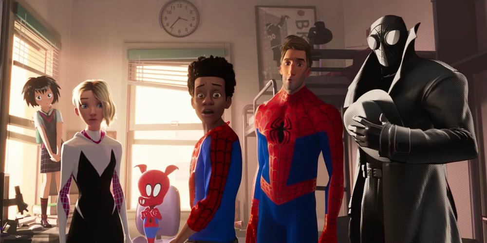 Peni Parker, Gwen Stacy, Peter Porker/Spider-Ham, Miles Morales, Peter B. Parker, Spider-Man noir in  Spider-man: Into the Spider-Verse  | The Daily Dot