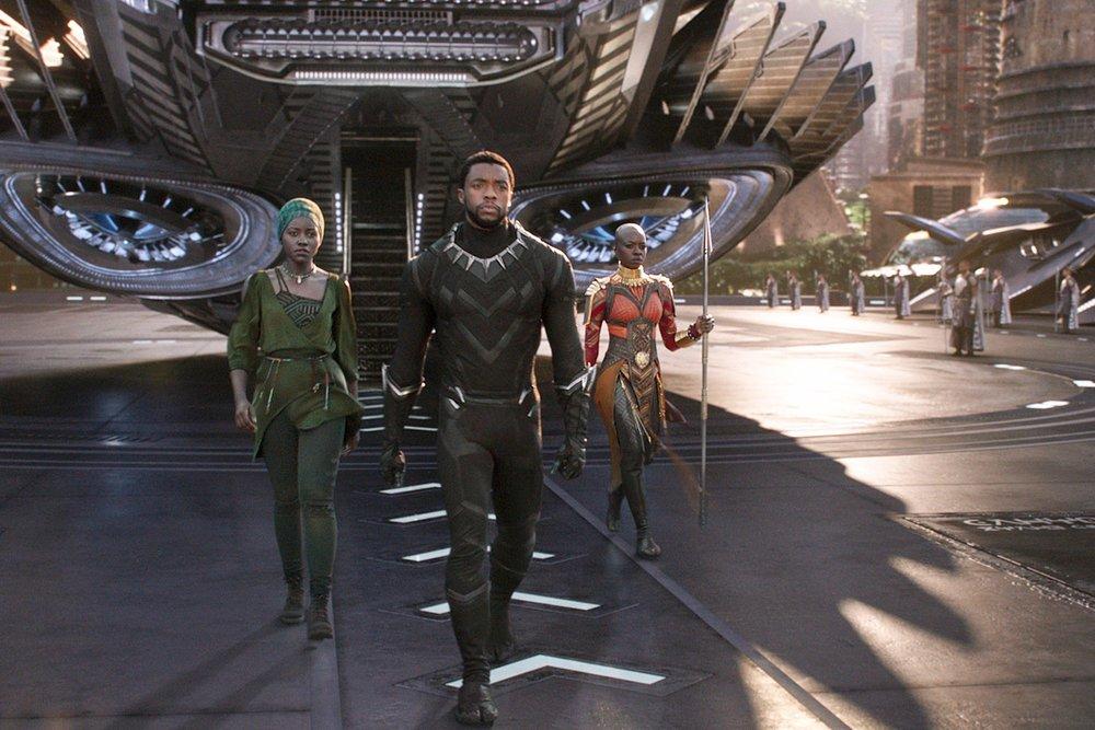 Lupita Nyong'o, Chadwick Boseman, Danai Gurira in  Black Panther