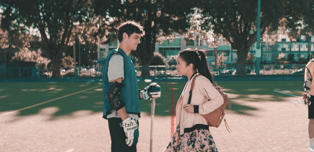 Noah Centineo & Lana Condor in  To All The Boys I've Loved Before